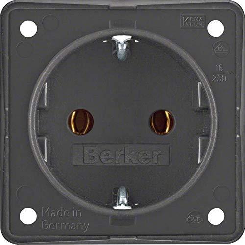 Preisvergleich Produktbild Berker Schuko-Steckd.Anth 947782505 m.Steckklemmen INTEGRO Steckdose 4011334051480