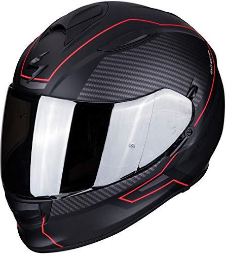 Scorpion Motorradhelm EXO-510 AIR FRAME Matt Black-Red, Schwarz/Rot, XL, 51-274-24-06