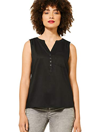 Street One Damen 342078 Bluse, Black, 44