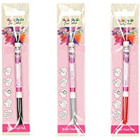 Funcakes - Pack de 3 bolígrafos comestibles, (Negro, Rojo, Gris)