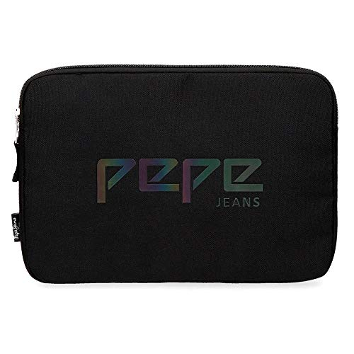 Pepe Jeans Osset Funda para Tablet 12' Negro 30x22x2 cms Poliéster