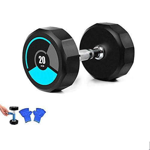 Hantel Gewichte Mit Gummibeschichtung Rutschfester Und Ergonomischer Griff Cross-Training Und Funktionstraining,20kg*1