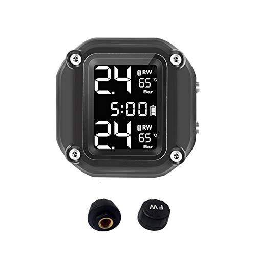 N/Z Motorrad Reifendruckkontrollsystem,wasserdicht General Wireless TPMS Sensor,mit LCD Display,Alarmfunktion Temperatur Anzeige Für Motorrad Werkzeug