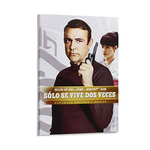 SSKJTC Modern Canvas Art Sean Connery You Only Live Twice 1967 Classic Retro Movie 007 Modern Character Artwork Prints 50 x 75 cm