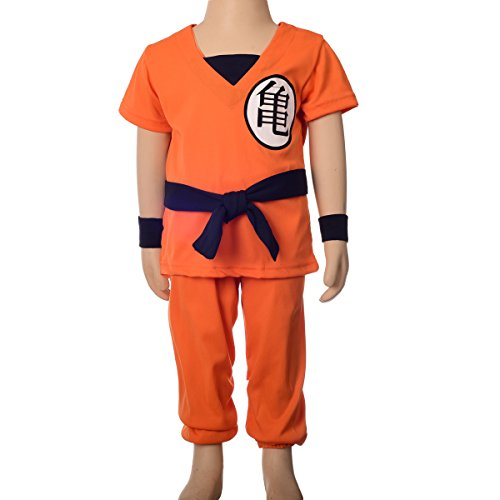 Dressy Daisy Boys' Dragon Ball Z Son Goku Fancy Costumes Set Outfit Halloween Party Size 5-6