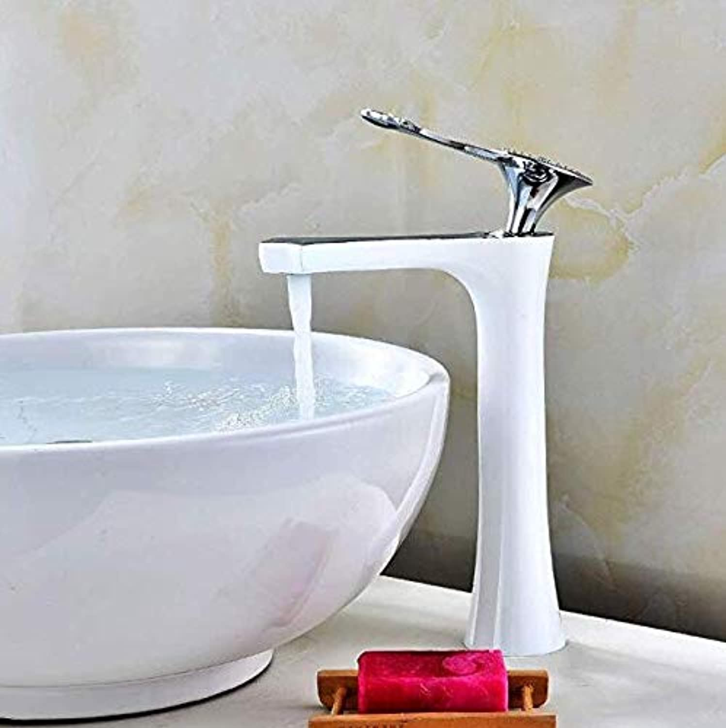 Bathroom Sink Tap Hot Cold Faucet Washbasin Single Handle 360 Degree redation All Copper Paint Basin Faucet Black Ancient Wash Basin Hot and Cold Faucet Single Hole Bathroom Faucet