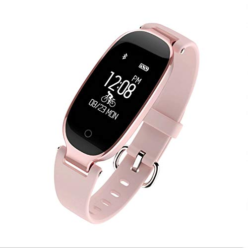 Alvnd Bluetooth Waterdichte Smart Watch Mode Dames en Dames Hartslagmeter Fitness Armband Compatibel met Android iOS