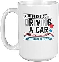 Choose D to Go Forward. Funny Democrat & Anti-Trump Coffee & Tea Gift Mug (15oz)