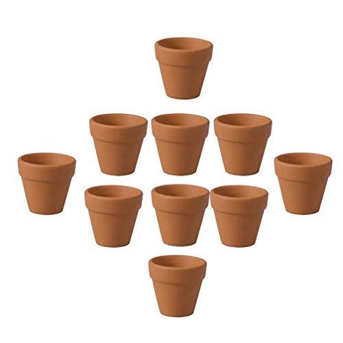 Yarnow Mini-Sukkulenten-Übertopf, Terrakotta, Ton, Keramik, kleine Pflanzgefäße für Hochzeitsgastgeschenke, Pflanzen, Basteln, 3 x 3 cm, 12 Stück