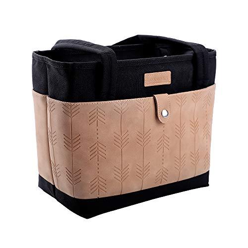 Lekesky Kühltasche Klein 11 L Lunchtasche für Damen Arbeit coolerbag Black Thermotasche Lunch, Schwarz