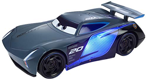 Disney Cars Toys Disney and Pixar Cars Ultimate Lights & Sounds Jackson Storm 8-inches Talking Toy, GJW60
