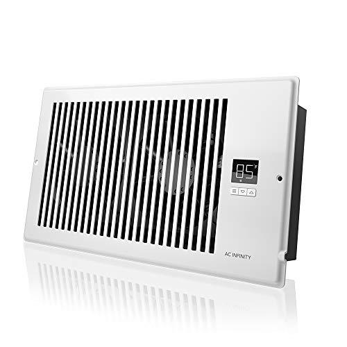 AC Infinity AIRTAP T6, ventilador silencioso de registro con control de termostato. Ventilación de refrigeración de calefacción. Se adapta a orificios de registro de 6 x 12 pulgadas.