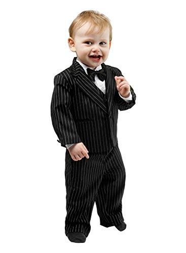 Mertinat Exclusive Schicker Taufanzug/Baby-Anzug 5-teilig, schwarz mit Nadelstreifen, ca. 12-18 Monate (86)