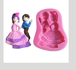 RETAIL SUPPLIES Silicone Dancing Boy and Girl Valentine Couple Fondant Cake Decorating Mould