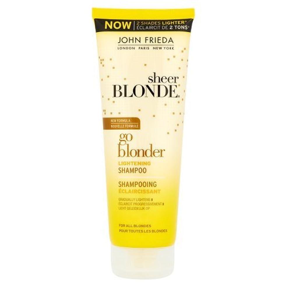 むしろ製作リッチJohn Frieda Sheer Blonde Go Blonder Lightening Shampoo 250ml