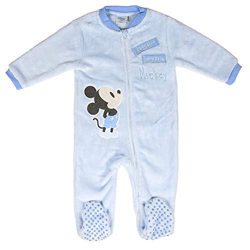 Artesania Cerda Pijama Dormilón Coral Mickey Conjuntos, Azul (Azul C37), 24m para Bebés