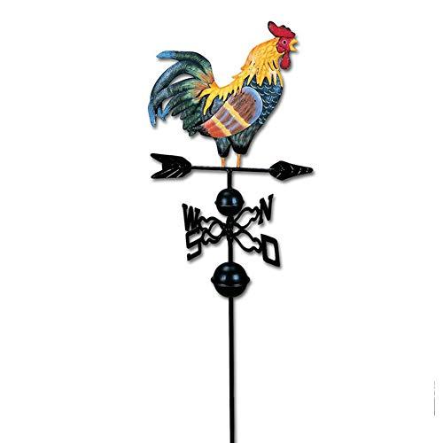 Wetterfahne aus Metall mit Hahn Ornament Windfahne Wetterlade für Dachwetterfahne für Dächer Garten oder Terrasse