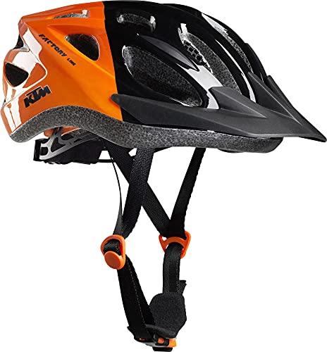 KTM Factory Youth/Fidlock - Casco da bicicletta Si prega di scegliere il colore., nero/arancione, 51-56 cm
