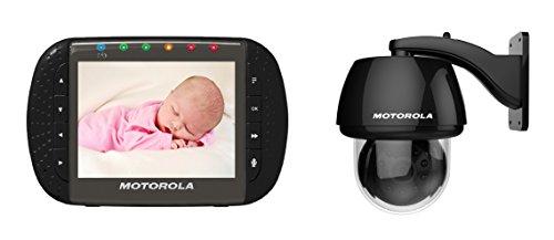 Motorola Outdoor Überwachungskamera mit 3.5' LCD Betrachtungseinheit über 2.4 GHz verbunden - SCOUT 1100 - Schwarz