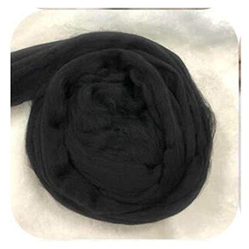 SXCXYG Hilo Gigante 1000 g/Bola Hilados de Hilo súper Grueso Hilos Blandos Grandes Hilos Gruesos Barmky Brazo Blight Roving Knitting Spinning Hiland Gigante De TejeduríA Manual (Color : Black)