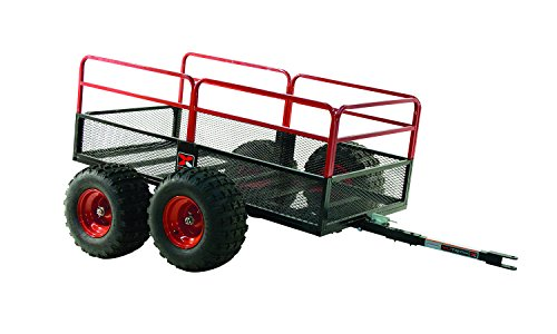 Yutrax TX159 Trail Warrior X4 Heavy Duty UTV/ATV Trailer - For Off-Road Use - 1,250 lb. Capacity,Black/Red