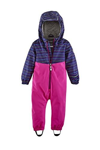 Killtec Baby-Mädchen Joylily MNS ONPC Softshell Overall mit Kapuze, neon pink, 110/116