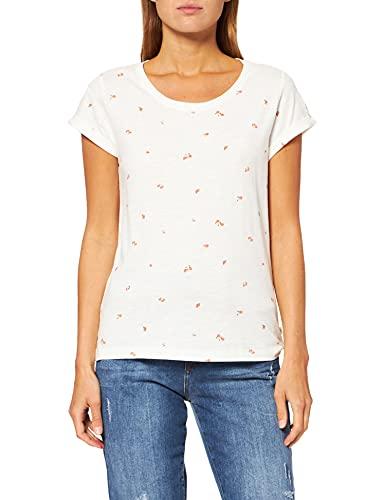 edc by Esprit 021CC1K318 T-Shirt, 112/Off White 3, S Femme