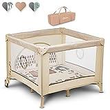 Lionelo Sofie - Parque para bebé o bebé (15 kg, incluye bolsa de transporte), color beige