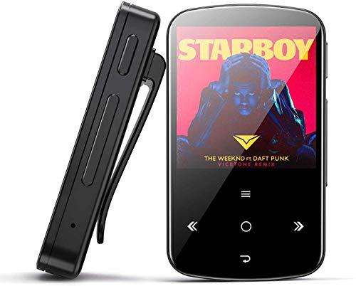 Lettore MP3, BENJIE Bluetooth HiFi Music player, 2.4in Digital Audio player con radio FM/registratore vocale/video Play/testo di lettura(16GB Blu)
