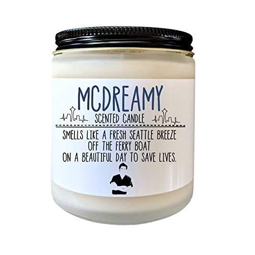 Greys Anatomy Candle McDreamy Candle Greys Anatomy TV Show Nurse Gift Doctor Gift Student Nurse