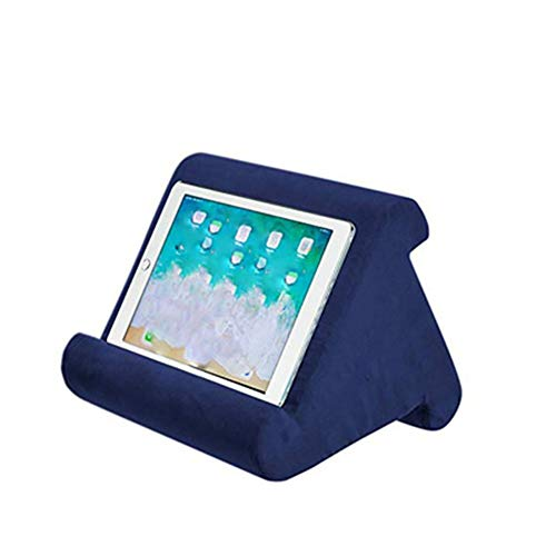 ETbotu Laptop Computer Stands Soft Pillow Pad Reading Bracket for iPad Phone Support Royal blue