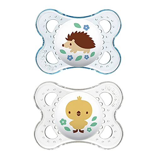 Product Image of the MAM Clear Collection Pacifiers (2 pack, 1 Sterilizing Pacifier Case), MAM...
