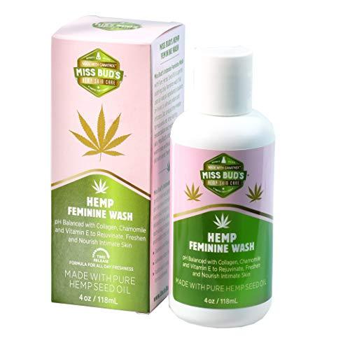 Miss Bud's Organic Hemp Intimate Feminine Wash Balanced pH Levels Green Tea and Chamomile Extract