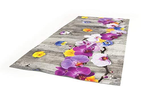BiancheriaWeb Tappeto Passatoia Cucina Antiscivolo Stampa Digitale Dis. Onda Orchidea 50x140 Orchidea