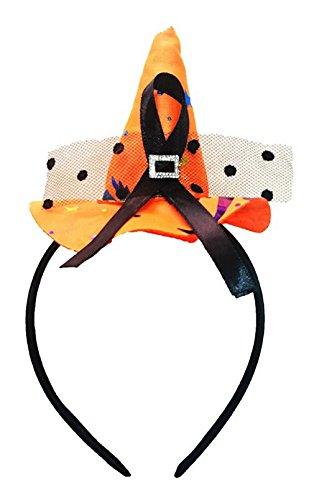 La Vogue Serre-Tête Headband Enfant Fille Petit Chapeau Sorcière HalloweenParty Cosplay Orange