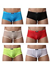 Mini boxers for men 6-pack. The fabric is transparent.