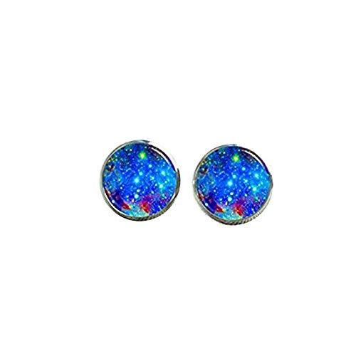 Blau Galaxy Stollen, Starry Sky Post Ohrringe, Milchstraße Ohrstecker