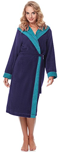 Merry Style Accappatoio Donna MSLL1001 (Viola/Blu, L)