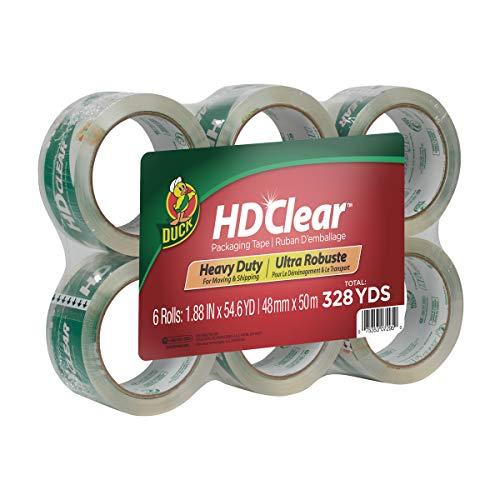 Duck HD Clear Heavy Duty Packing Tape Refill 6 Rolls 188 Inch x 546 Yard 441962