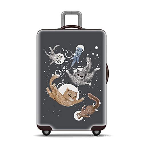 """BEDLININGS Fundas para Maletas de Viaje,Maleta con Funda para Equipaje Spandex Travel Protector Fit Maleta de 18""""-32"""" (sin Maleta),B,M(22~24inch)"""