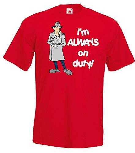 TRVPPY Herren T-Shirt Modell Inspector - Rot M