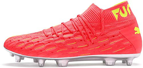 PUMA Men's Soccer Future 5.1 Netfit OSG Firm Ground Cleats, 8.5 M, Nrgy Peach/Fizzy Yellow