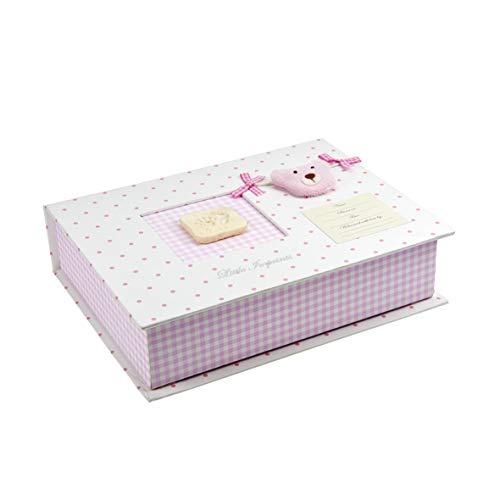 Mousehouse Gifts Caja de Recuerdos para bebés Color Rosa con Set de Modelado e impresión...