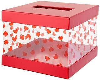 Darice Valentine's Day Mailbox Kit: Red/Clear