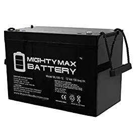 Mighty max battery 12v 100ah battery for solar wind deep cycle vrla 12v 24v 48v brand product 1 ml100-12 sla is a 12v 100ah group 30h sealed lead acid (sla) rechargeable maintenance free battery - ul certified dimensions: 12. 17 inches x 6. 61 inches x 8. 30 inches. Listing is for the battery and screws only. No wire harness or mounting accessories included. Sla / agm spill proof battery has a characteristic of high discharge rate, wide operating temperatures, long service life and deep discharge recover.