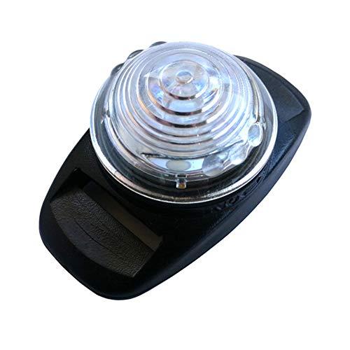 Naisde Collar de perro luz impermeable para mascotas luz de seguridad LED clip en la luz del gato para caminar por la noche blanco, collar de perro clip de luz