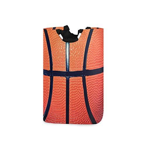 CFAUIRY Cesta plegable para la colada con asa de balón de baloncesto portátil plegable para la colada, cesta de tela