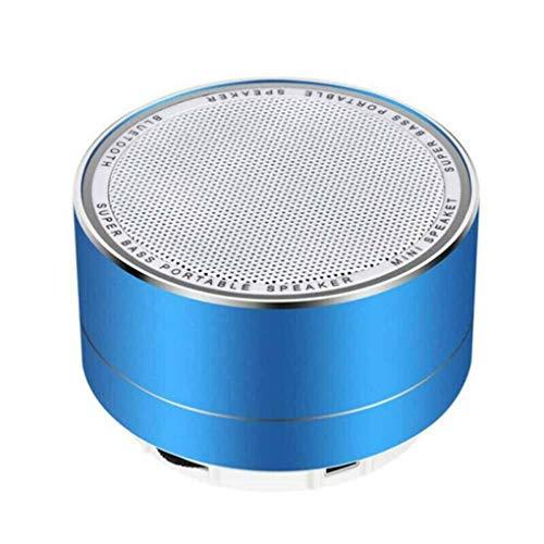 Guangcailun A10 Estéreo Inalámbrico Bluetooth Altavoz de Bluetooth Inporte Manos Libres Llamada TF Tarjeta Small HD Sound Soundbox, Azul