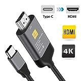 MIFIRE USB 3.1 Type C USB-C vers HDMI Câble 4K 60hz HDMI HDTV Adaptateur HDCP 2.2 Compatible pour...