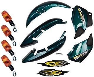 Kit Carenagem + Pisca Cg 125 Titan 125 Es 2001 Verde